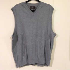 NWT Black Brown 1826 gray knit vest